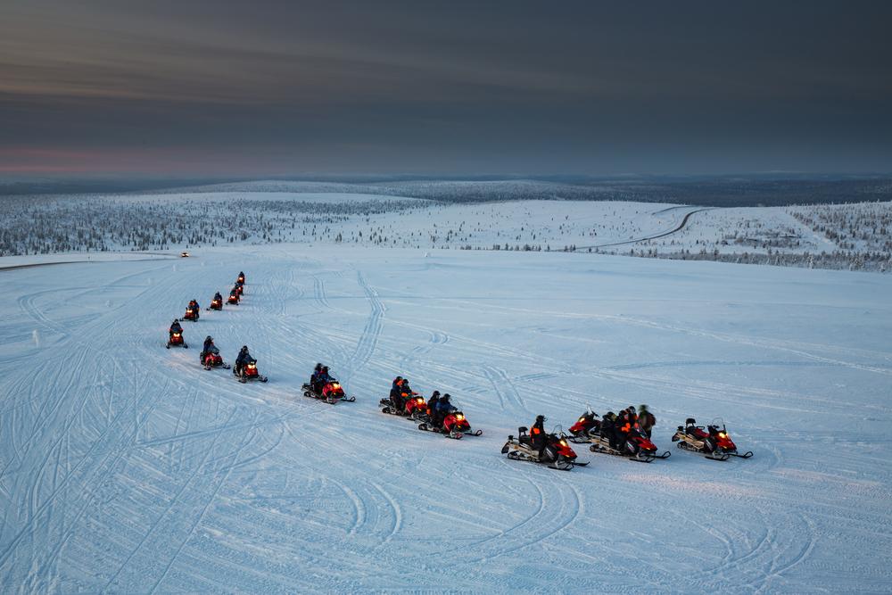 Snowmobile turu Lapland