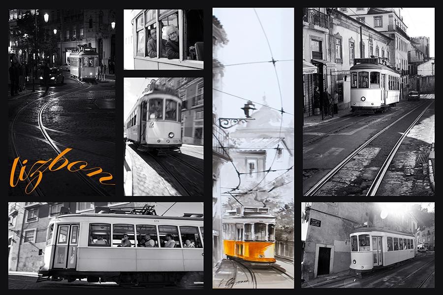Lizbon sarı tramvay