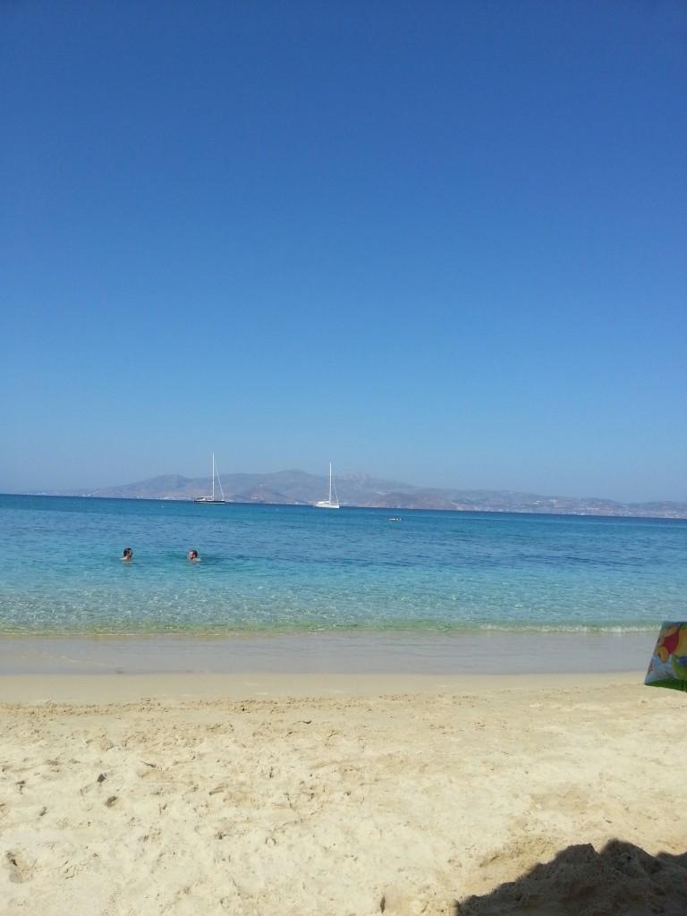 Naksos plajlarından bir kesit