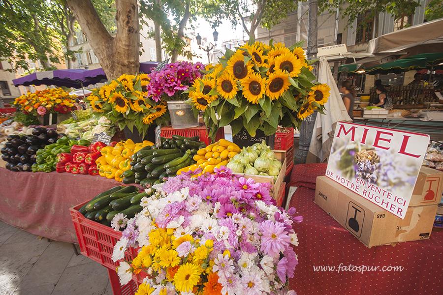 Aix en Provence sebze pazarı