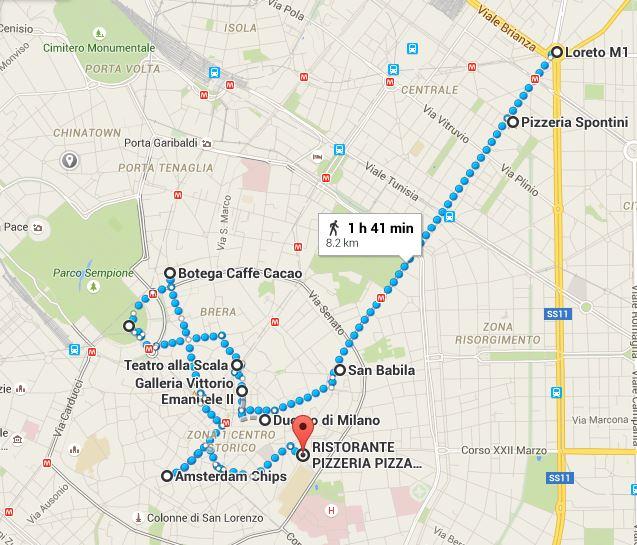 Milano Gezi Haritası