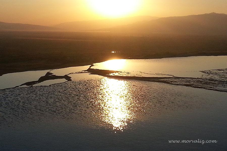 Pamukkale'de gün batımı