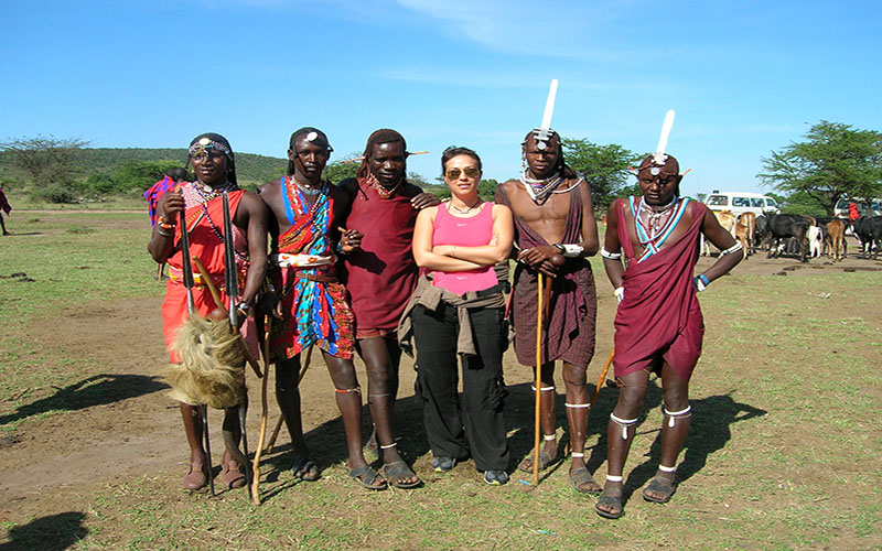 Kenya'da Masai Kabilesi ile
