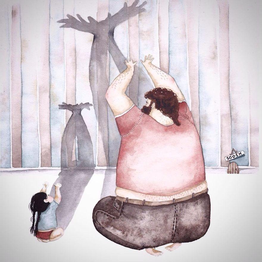 Baba Kız hayali karakter yaratıyor