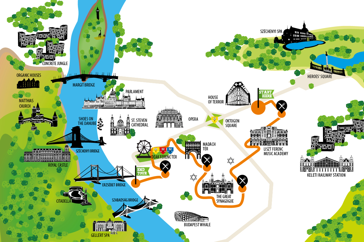 budapest tourist attractions map pdf